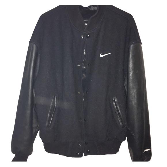 93c243eaae13 Men s Nike Letterman Leather Jacket. M 5b5fef421070eea78aee2bb6